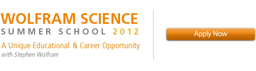 Wolfram Science Summer School 2012—A Unique Educational & Career Opportunity with Stephen Wolfram—Apply Now