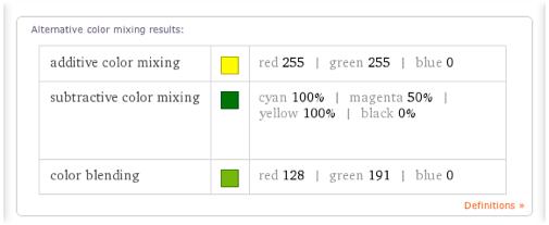 Green + orange