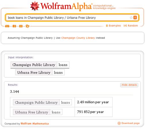 book loans in Champaign Public Library / Urbana Free Library