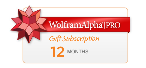 Wolfram|Alpha Pro Gift Subscription---12 Months