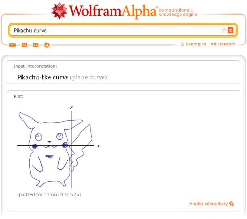 Pikachu curve