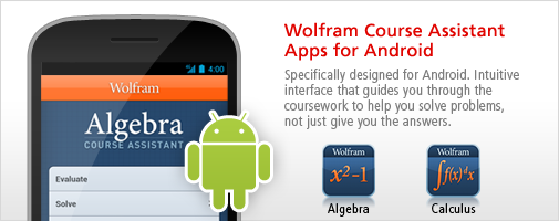 Wolfram Course Assistant Apps for Android