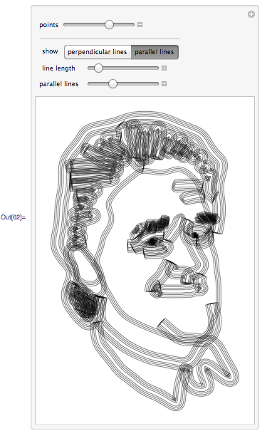 Interactive line drawings of Leno