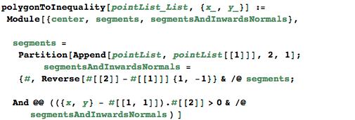 polygonToInequality