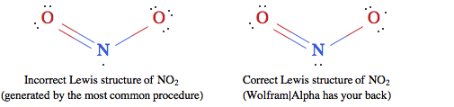 Incorrect vs correct Lewis structure