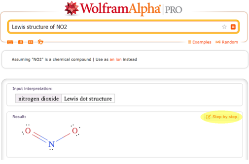Lewis structure of NO2