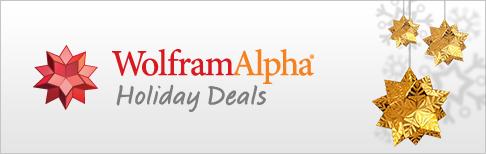 WolframAlpha Holiday Deals