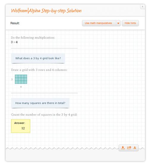 Multiplication problem 3x4