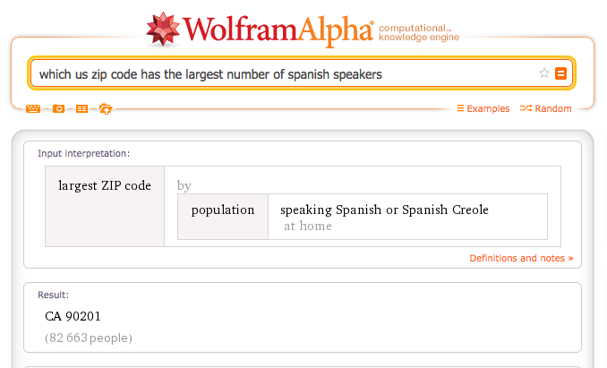 which us zip code has the largest number of spanish speakers