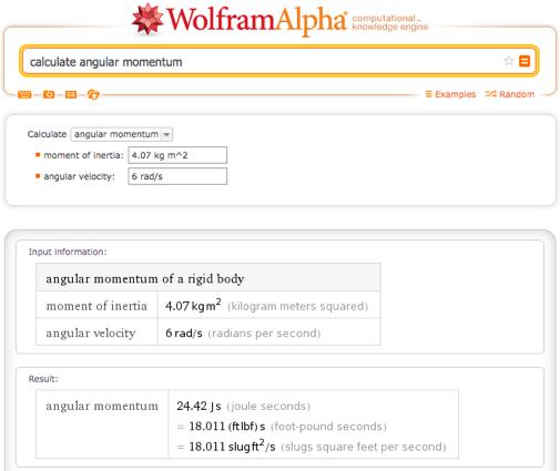 calculate angular momentum