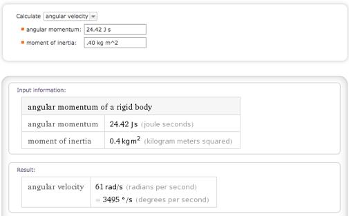 calculate angular velocity