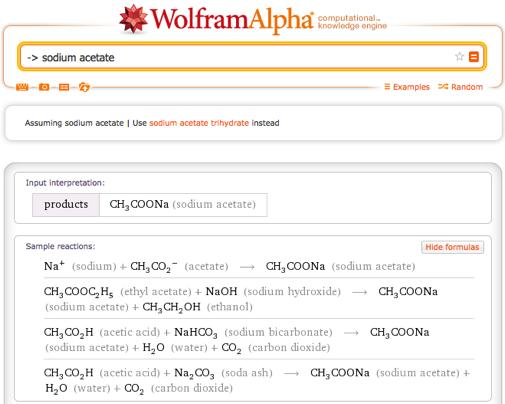 sodium acetate formula