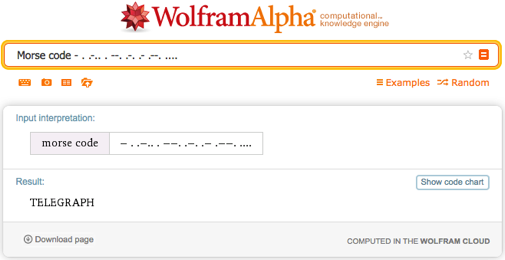 Decrypting Morse code