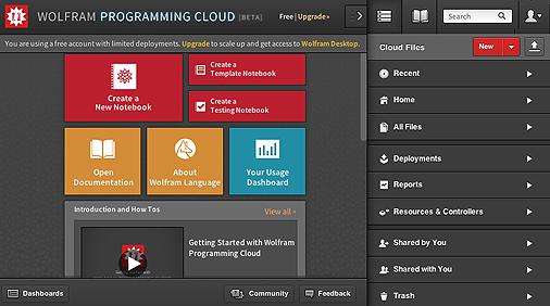 Wolfram Programming Cloud on the web