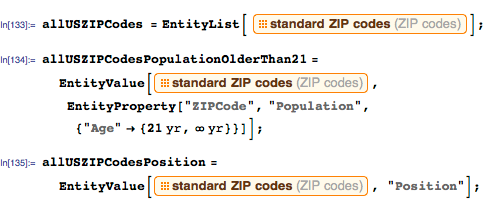 List of coordinates and the population of all ZIP code regions