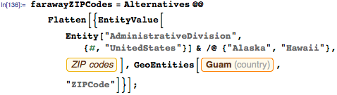 Exclude ZIP codes in Alaska, Hawaii, and Guam