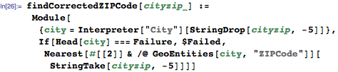 Define function to programmatically correct the ZIP codes in case they are just simple typos