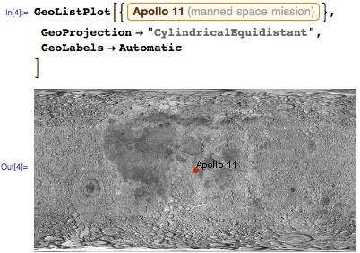 Alternative GeoProjection of Apollo 11 on Moon