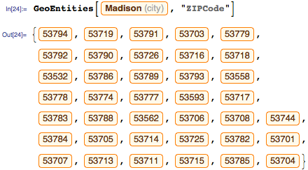 Find a ZIP code in Madison, WI that has a small string distance to the ZIP code 54704