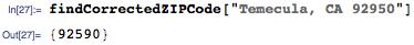 Corrected ZIP code example