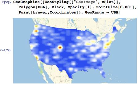 Brewery density map