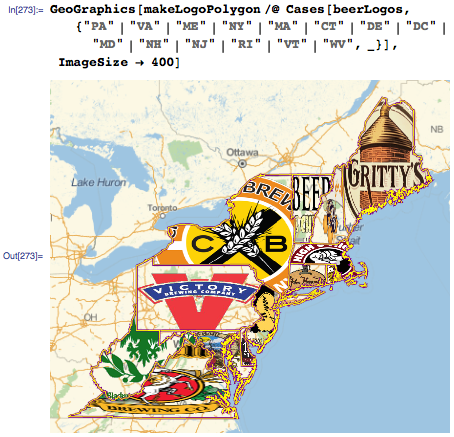 Randomly selected logos from Northeast states