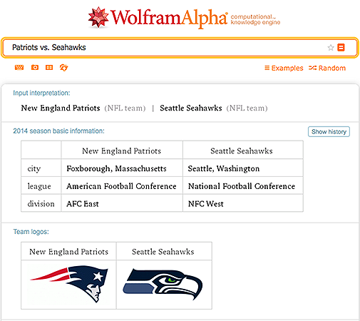 Patriots vs. Seahawks