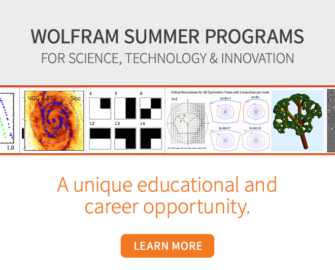 Wolfram Summer Programs