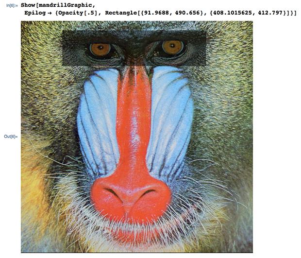 Show[mandrillGraphic, Epilog -> {Opacity[.5],