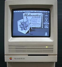 Macintosh SE/30 running Mathematica 1