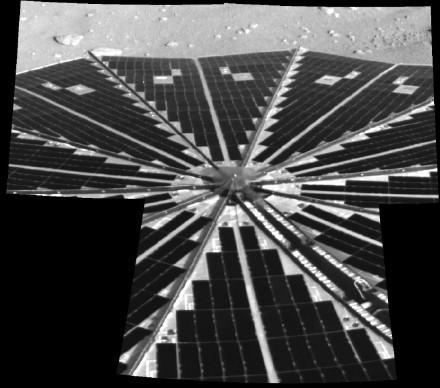 Solar Power Grid Unfurled—image courtesy of NASA / JPL-Caltech / University of Arizona