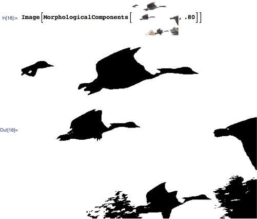 Using MorphologicalComponents