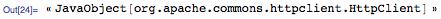 « JavaObject[org.apache.commons.httpclient.HttpClient]»