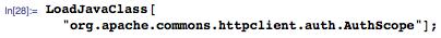 "LoadJavaClass[""org.apache.commons.httpclient.auth.AuthScope""];"