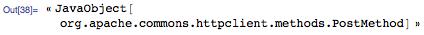 « JavaObject[org.apache.commons.httpclient.methods.PostMethod]»