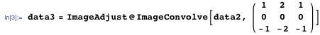 data3 = ImageAdjust@ImageConvolve[data2, ({{1, 2, 1},{0, 0, 0},{-1, -2, -1}})]