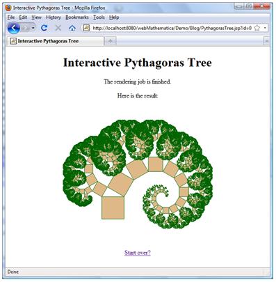 Interactive Pythagoras Tree result