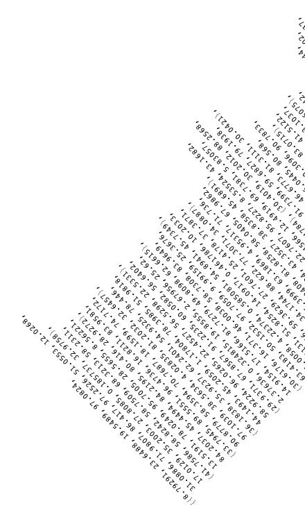 Rotated block of RandomReal results