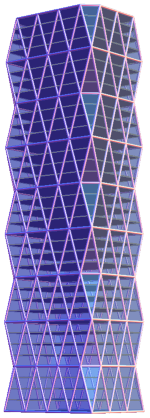 Mathematica render of the Hearst Tower