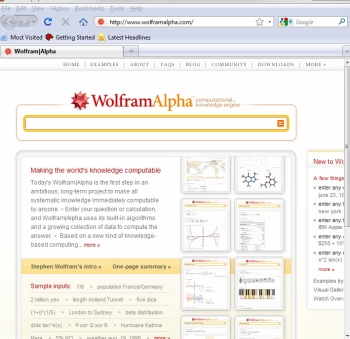 Wolfram|Alpha and Mathematica—Click to view video