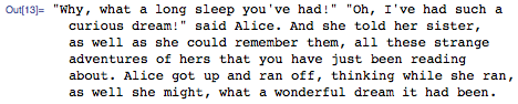 The end of Alice's Adventures in Wonderland