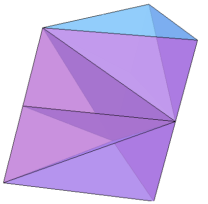 Tetrahedra packed into a triangular prism