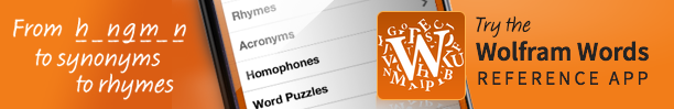 Try the Wolfram Words App