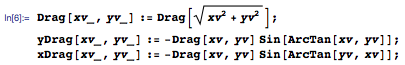 Formula with x and y components