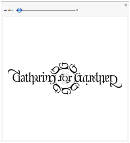 Ambigram logo of the event