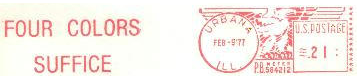 Four colors stamp