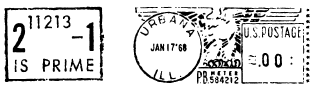 Prime number stamp