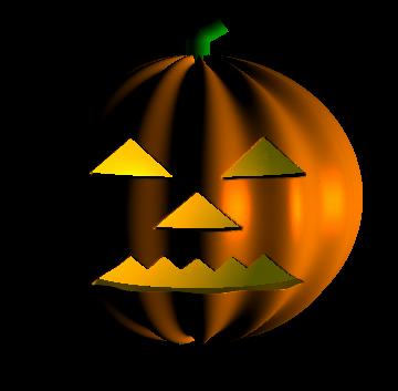A pumpkin rendered in Mathematica