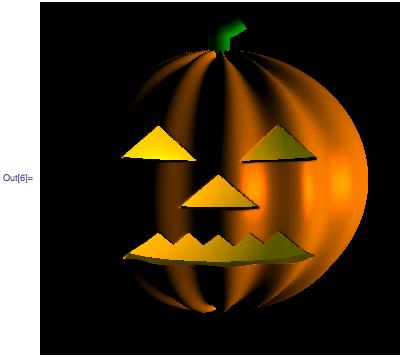 Rendering of lighted pumpkin