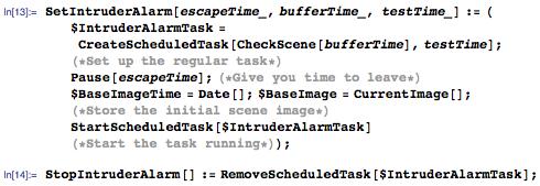 Scheduled interrupt to run the program